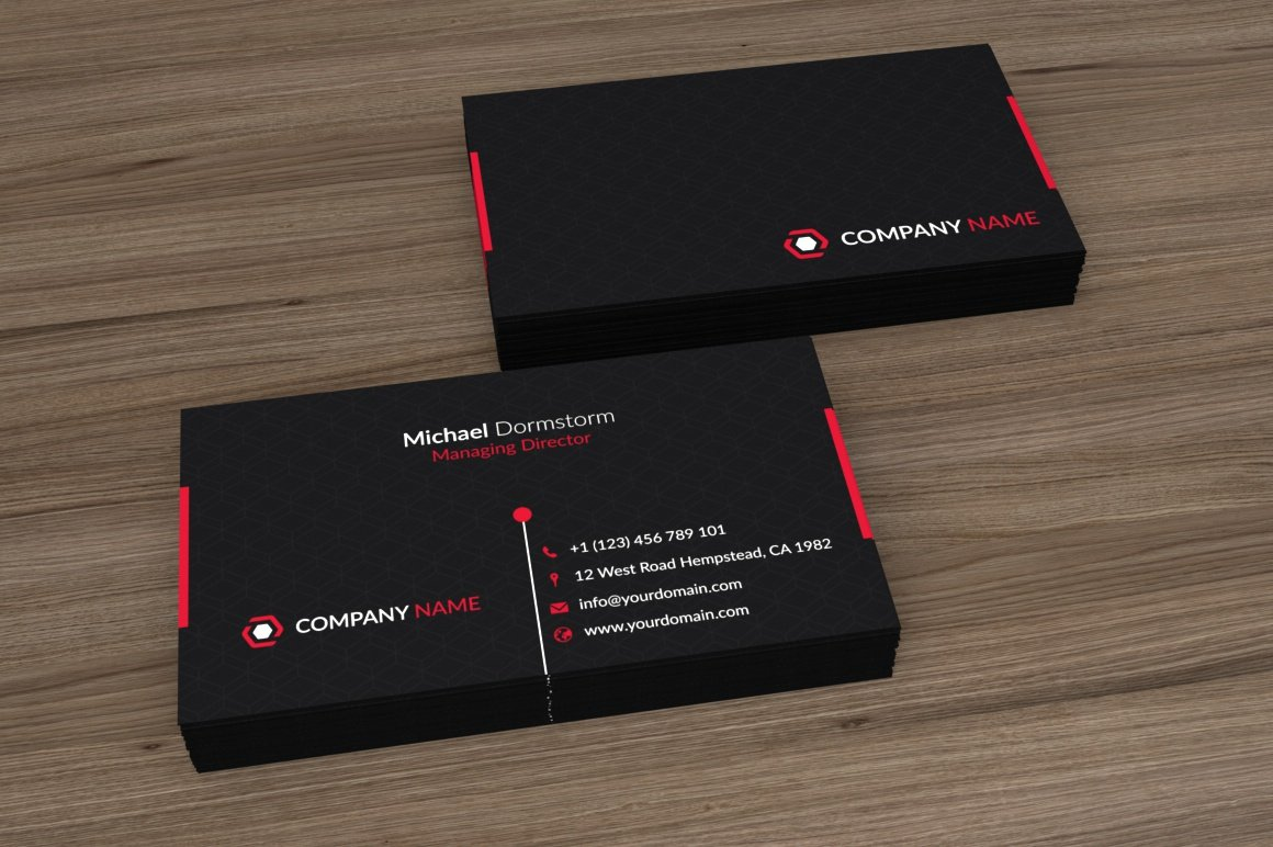Black red corporate business card business card templates black red corporate business card business card templates creative market colourmoves