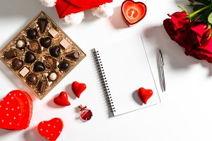 Valentine's Day Diary Space for Text