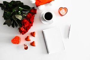 Valentine's Day Notebook Blank Space