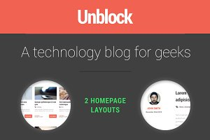 Unblock Ghost Theme | 2 layouts