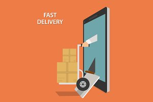 Fast Goods Delivery Concept