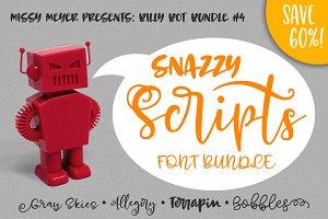 BillyBot Font Bundle 4-Snazzy Script