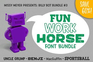BillyBot Font Bundle 3-Fun Workhorse