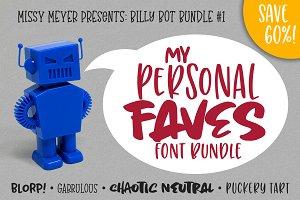BillyBot Font Bundle-Personal Faves