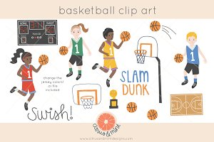 basketball game clip art graphics