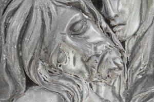 Bas-relief in bronze representing Th