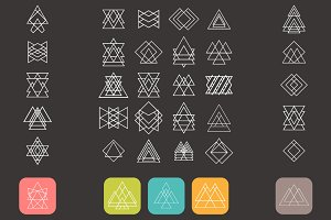 Set of trendy geometric shapes