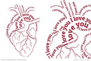 Human heart Valentine's day card