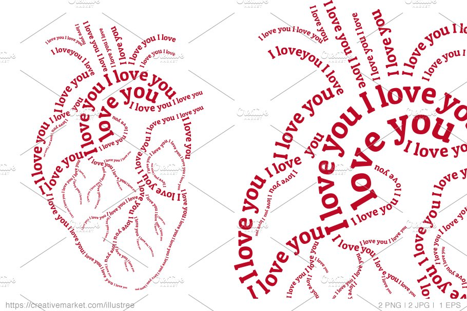 Human heart Valentine's day card