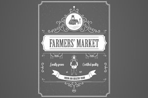 Farmers Market Advertisement Posters