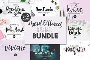 80% OFF Hand Lettered Font Bundle