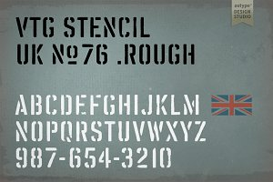 Vtg Stencil UK No. 76 - Rough