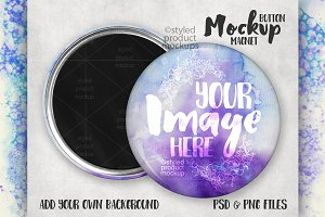 Magnet button mockup