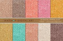 Digital Paper-Glitter-Chocolate...