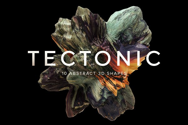 Textures: RuleByArt - Tectonic: 10 Abstract 3D Shapes
