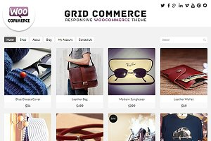 Grid Commerce - Woocommerce  Theme