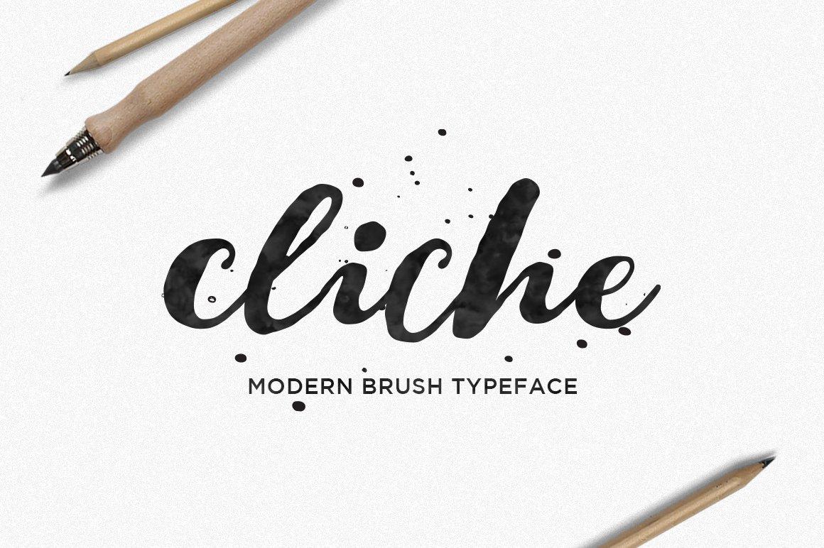 Cliche script fonts creative market