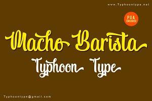Macho Barista font