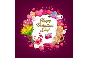 Valentines Day round poster
