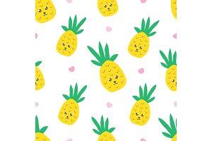 Childish seamless pattern with cute