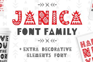 Nordic Display Font Family - Janica