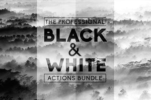 Black & White Pro Actions Bundle