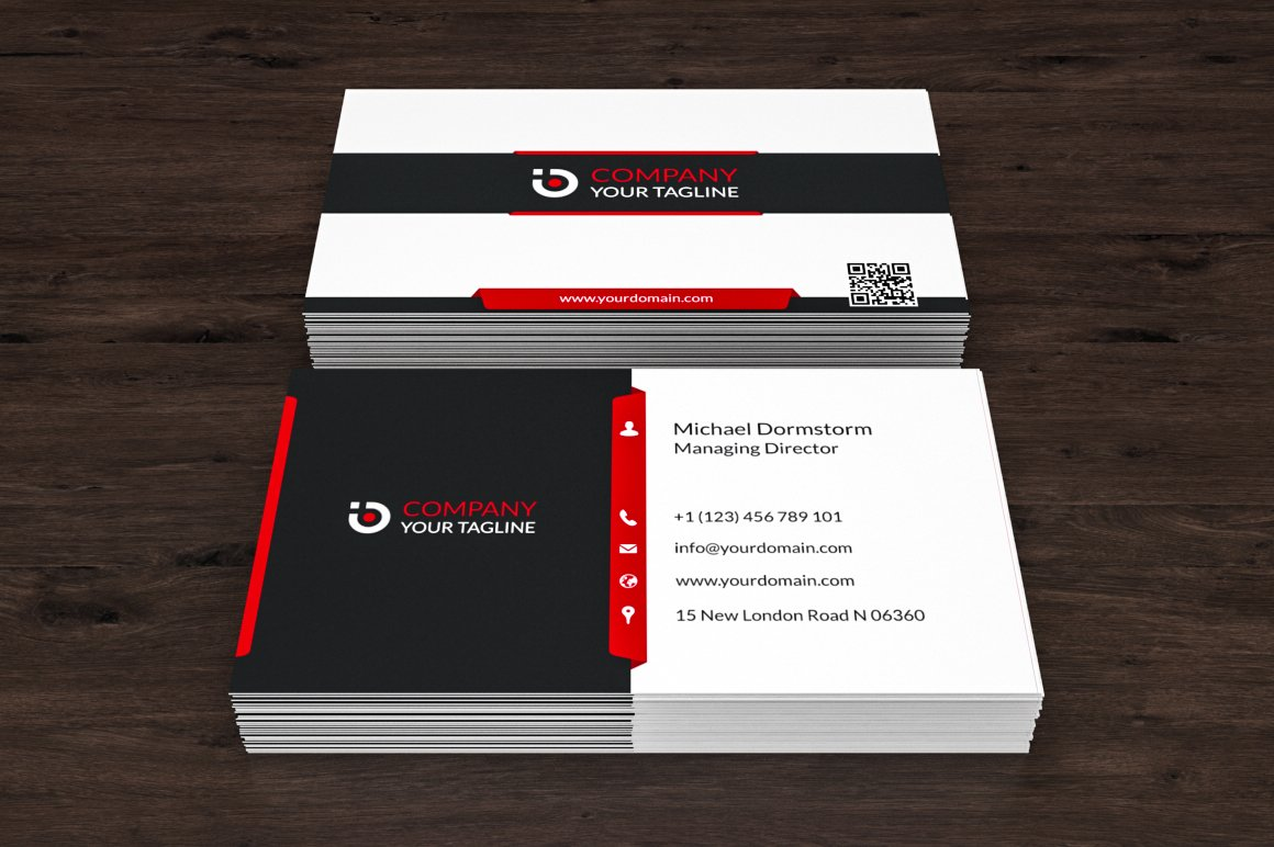 Corporate business card 01 business card templates creative market colourmoves Choice Image