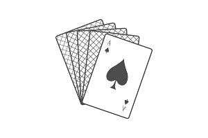 Playing Cards Vector Illustration In