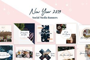 New Year Social Media Banners