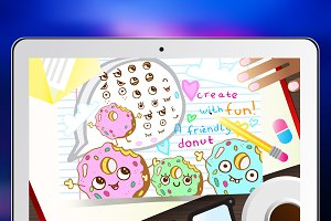 """Create-Your-Own-Donut"" Vector Set"