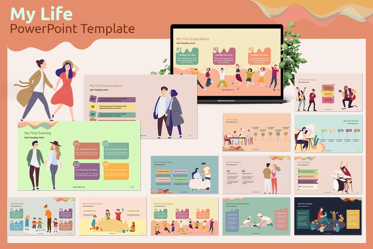 My Life Powerpoint Template Powerpoint Templates