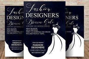 Fashion Designers Dresses Sale Flyer