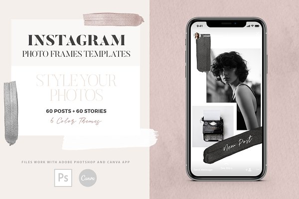 Social Media Templates: Youandigraphics - Instagram Photo Frames Templates