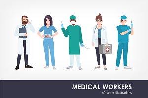 Medical workers, doctors set