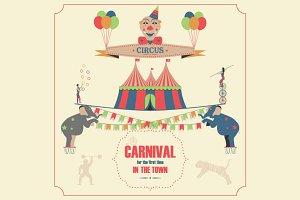 Circus invitation poster.