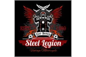 Custom motorcycles club Badge or