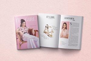 It Girl Magazine Template