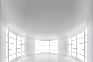White Rounded Room