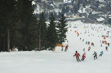 people skiing on a ski slope by  in Sports