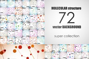 72 beautiful molecular structures