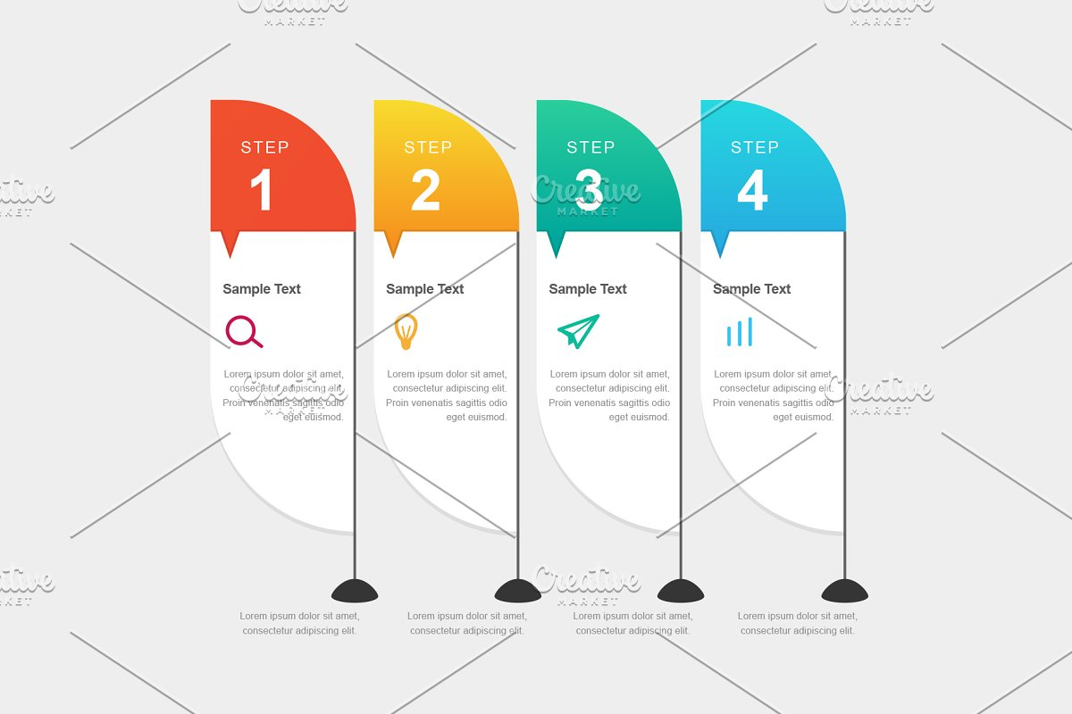 Banners Infographic Template Presentation Templates Creative Market