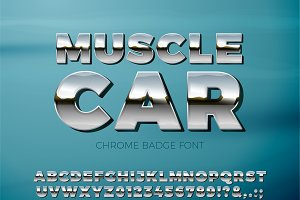 Muscle Car Chrome letters