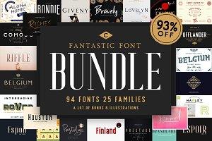 FANTASTIC Font Bundle (93% OFF)