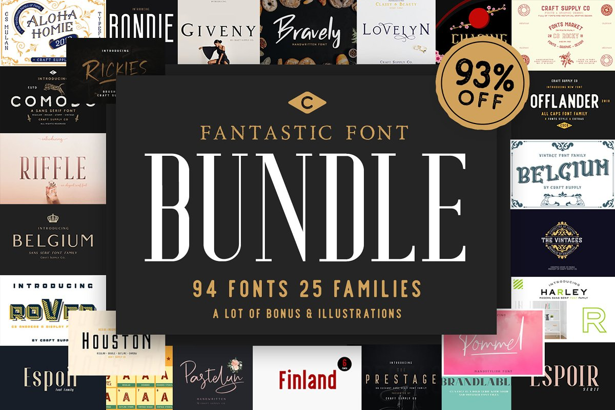 New Year Font Bundle (91% OFF)