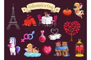 Valentines Day romantic elements