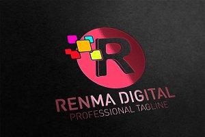 R Letter Digital Logo