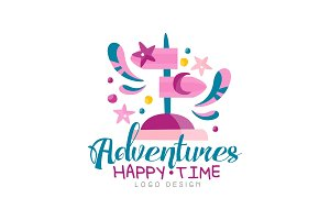 Adventures, happy time logo design