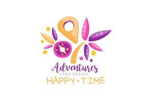 Adventures, happy time, logo design