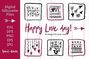 Lovely valentines day set - #1 SVG