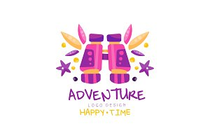 Adventure, happy time logo design